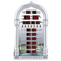 Wholesale Ramadan Gfit HA Cites Muslim Prayer Mosque Azan Clock Fajr Iqama Alarm with Qibla Direction Hijri Gregorian Calendars