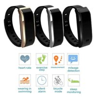 Wholesale Bluetooth Smart Waterproof Heart Rate Sleep Monitor Pedometer Sports Fitness Tracker Pedometers
