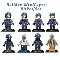 attack building - set DLP9039 Terrorist Attack Minifigures Communication Soldiers With Weapons Building Blocks Bricks Model Kids Toys