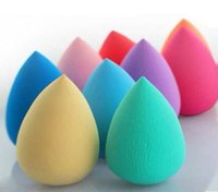 baby water bags - Baby Maternity Waterdrop Sponge Beauty Puff MIx Colors Water Drop Shaped With Opp Bag Women Gift B4478