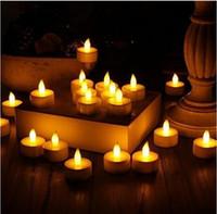 Wholesale 20 X Smokeless Flameless Electronic Flash Night Tea Lamp Romantic Led Candle Light Wedding Party DIY Decor