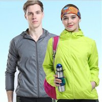 Wholesale Summer Outdoor Sports Jacket Hot Men And Women Running Zipper Sport Hot Unisex Training Clothing New Running Jackets Lovers Coat