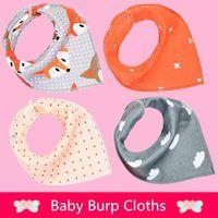 Wholesale 2016 new baby girls boys waterproof Pure cotton double layer bibs burp cloths Cartoons INS fox bibs Burp Cloths
