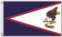 Nylon banner designs - Country Flag of Flag of American Samoa Us Banner Flying Design D Polyester Banners