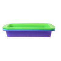 Wholesale 8 quot x quot Square Silicone Dab Container Non Sticky Silicone Wax Container Tray