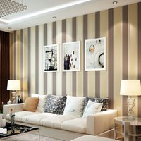 Wholesale Modern Luxury Vertical Stripes Wallpaper Non woven Bedroom Living Room Home Decoration Glitter Wallpaper Roll Silver Coffee Grey
