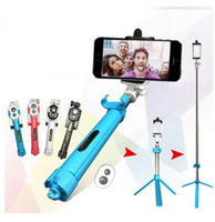 Wholesale Portable Monopod Bluetooth Remote Selfie Stick Tripod Monopod in Handheld Extendable for Selfie Stick Sumsung iPhone