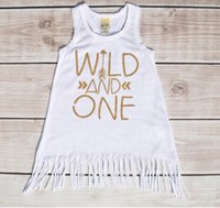 Mid-Calf american girl store - Store Goods The Letter Wild And One Girls Dress Summer Tassel Arrow Paragraph Children Dress in Europe