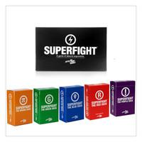 Wholesale SUPERFIGHT Cards Game And The Expansion Pack Red Blue Orange Purple Green The Card Game Core Card Deck Compare To Cards Of Humanity Classic