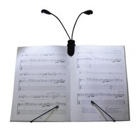 Flexible Neck Clip-On deux bras Double LED Music Stands lecture lampe ebook Light pour AMAZON KINDLE LIVRES ET ORDINATEURS ETC DHL FEDEX FREE SHIP