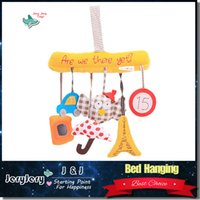 bell seats - Baby Music Hanging Bed Safety Seat Plush Toy Hand Bell Multifunctional Plush Toy Stroller Baby Toys Rattles Mobile