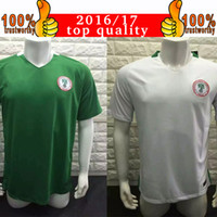 away team - 2017 Nigeria National Team Jersey World Cup Qualification Nigeria Soccer Jerseys Home Green Away White Thai Football Shirt