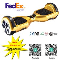 Wholesale New Inch Hoverboard Two Wheels Electric Scooters Smart Balance Wheel Drifting Board Self Balancing Scooter Skateboard