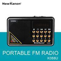 Wholesale New Kanon FM radio K088U USB TF card dual player portable radio station SD card slot Radio receiver Freeshipping