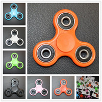 Chenghai best autism - 2017 Hot Sale White Black Red Blue Tri Spinner Fidget Toy Plastic EDC Hand Spinner For Autism and ADHD Best Gift