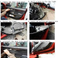 Wholesale LED Car Door Logo Light Laser Welcome Guest Shadow Projector Light For Mitsubishi asx lancer outlander pajero l200 Expo