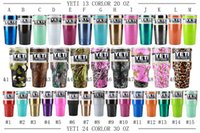 Wholesale Yeti Cups New Camo Color Shiny Color oz oz YETI Rambler Tumbler Cup Camo Yeti Stainless Steel Travel Mugs IN STOCK