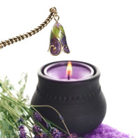Wholesale Retro Stainless steel Brass White Crystal Renaissance Candle Snuffer Long Handle Candle Snuffer Extinguisher Tool Home Decoration inch