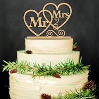 Wholesale quot Mr and Mrs quot Rustic Wedding Cake Topper Laser Cut Wood letters Wedding Cake Decorations Favors Supplies Engagement Gifts