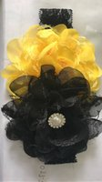 Wholesale Double shabby flower Infant flower headband beautiful