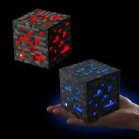 Wholesale Minecraft Light Up Popular Game Redstone Ore Square Minecraft Night light LED Minecraft Figure Toys Light Up Diamond Ore For Christmas free