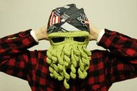 Wholesale Winter Fashion Colors Acrylic Creativity Octopus Knitted Cosplay Special Funny Unusual hat Men Women Cool Hat Christmas Gift