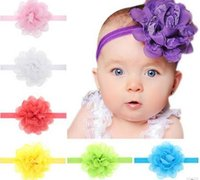 Wholesale Hot style source Cute Baby hair head ornaments Chiffon lace children s hair band Flower Toddler Hairdress