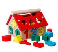 Wholesale Supply of digital housing small house digital house wisdom house cute number of pairs of touch early education educational toys