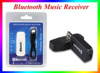 Wholesale Universal mm Streaming Car Wireless Bluetooth Car Kit USB Bluetooth Audio Music Receiver Adapter Handsfree For Iphone android samsung