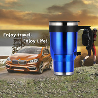 Wholesale V Stainless Steel Universal Auto Car Electric Travel Heated Hot Thermos Cup Mug With Car Charger