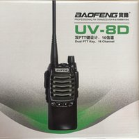 Wholesale BF UV8D BAOFENG Walkie Talkies UHF Two Way Radio W Dual PTT FM Transceiver