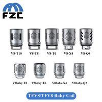 babies tanks - Original SMOK TFV8 Baby Tank Coil V8 Baby T8 X4 T6 Q2 ohm ohm TFV8 Coil Head Q4 T10 Atomizer