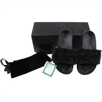 Wholesale Ship with Original Boxes Dust Bags Leadcat Fenty Rihanna Shoes Women Slippers Indoor Sandals Girls Fashion Scuffs VS PMD Pro Kylie Jenner