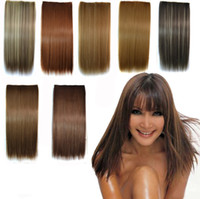 Wholesale Fashion America EU Style Beauty Girl Straight Clip In Hair Extensions