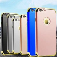 apples tide - Electroplate PC in simple spray leather tide card luxurious protective Drop resistance Mobile Phone Case