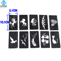 animal stencils - OPHIR Airbrush Sheets Stencils Animal series for Body Painting Glitter Temporary Tattoo Kit cm x cm_TA033C