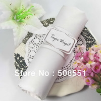 Wholesale Laser cut paper white napkin rings paper napkin rings for weddings with names