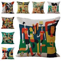 beach pillow covers - Abstraction Beach Football Loves Throw Pillow Cases Cushion Cover Pillowcase Linen Cotton Square Pillow Case Pillowslip Home Decor