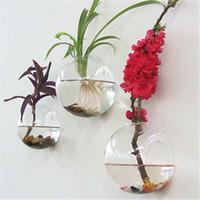 Декор аквариума Цены-3PCS / set Воздух завода стеклянный террариум, террариум стены пузыря, плантаторы стены, воюя бак рыб для украшения стены, домашнее украшение, зеленые подарки