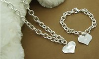 Wholesale 925 silver jewelry to the heart of Europe and the United States to the heart licensing necklace bracelet