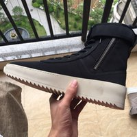 Wholesale Fear Of God High Shoes FOG Black And White Military Boots High Street Boot Selling