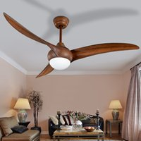 Wholesale 52 inch LED Brown DC w village ceiling fans with lights minimalist dining room living room ceiling fan with remote control