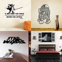 Wholesale HOT Star Wars stickers Wall stickers Home Decoration Bedroom Living Room Home Decor Removable