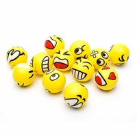 Wholesale 12 fun QQ Emoji and face squeeze balls stress relax emotional hand wrist exercise stress toy balls toy
