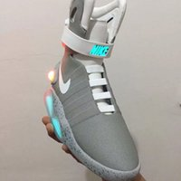 Wholesale Hot Air Mag AKA Marty McFly Basketball Shoes Back To The Future Glow In The Dark Sole Mag Limited Edition Sneaker Led Lights