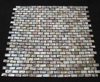 Wholesale Brick Brown Mother of Pearl Shell Tiles for Bathroom or Kitchen Tiling