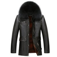 Wholesale High Quality Men Genuine Leather Coats Winter Thicken Warm Jacket Men Furry Collar Brand Clothing Business Formal Men Clothing