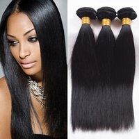 7A Péruvien Hair Extensions Cheveux péruviens Paquets 3pcs / lot Péruvien Straight Virgin Cheveux Extensions Trame Remy Couleur Naturelle Peut être Teints