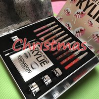 Wholesale IN STOCK Kylie Christmas Limited Edition Holiday Gift Box Makeup Collection Lip Glosses kyshadow kyliner kit creme shadows