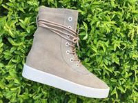 apricot season - Supply New Fashion Season Boots Original Qualtiy Shoes Kanye west Season Shoes Black Apricot Color Size Us5 DHL